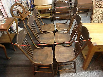 Absolutely Gorgeous Set of (6) Spindle Back Antique Dining Chairs