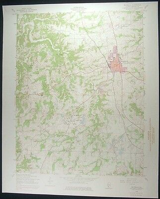 Waterloo Illinois Monroe County 1975 vintage USGS original Topo chart map