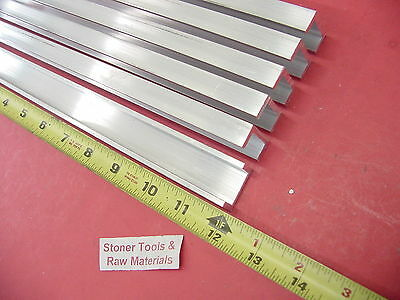 """6 Pieces 1""""x 1/2"""" ALUMINUM CHANNEL 6063 X 1/8"""" Wall 12"""" long T52 Mill Stock 72"""""""