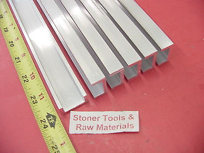 "6 Pieces 1""x 1/2"" ALUMINUM CHANNEL 6063 X 1/8"" Wall 24"" long T52 Mill Stock 144"""