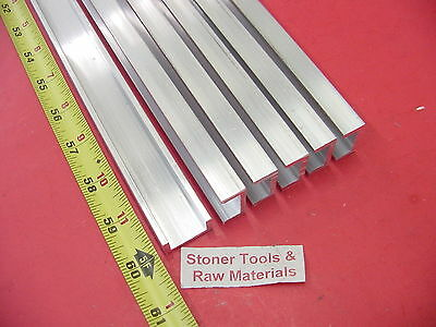 "6 Pieces 1""x 1/2"" ALUMINUM CHANNEL 6063 X 1/8"" Wall 60"" long T52 Mill Stock 30'"