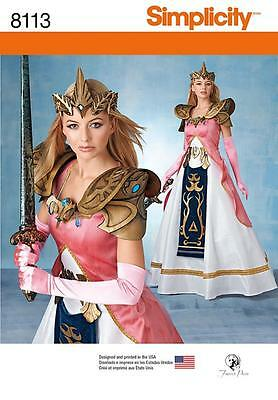 Simplicity Sewing Pattern Misses' Costumer Warrior Princess & Crown 6-22  8113
