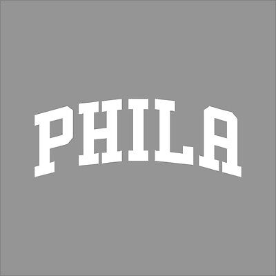 Philadelphia 76ers #7 NBA Team Logo 1Color Vinyl Decal Sticker Car Window Wall
