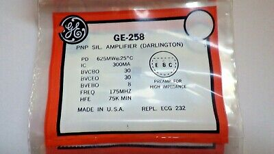 General Electric Ge-258 Pnp Silicon Transistor Nib
