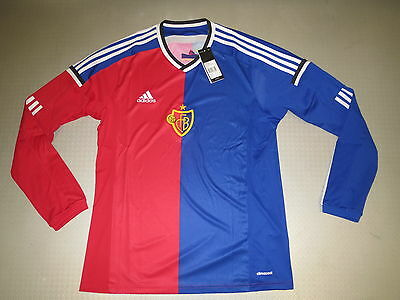 player Jersey FC Basel Home LS 14/15 Orig adidas Size L XL new player issue