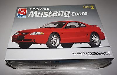 AMT 1995 Ford Mustang Cobra Model Car Kit 1/25 scale #6201  SEALED