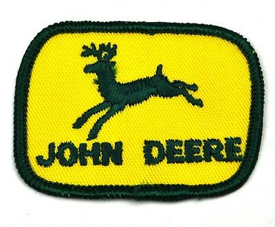 John Deere USA Bügelflicken Aufnäher Emblem Uniform Patch gelb