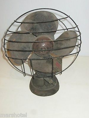 """Vintage Mid Century Super Air Fan 9"""" Table Model Tested Working Needs Cleaning"""