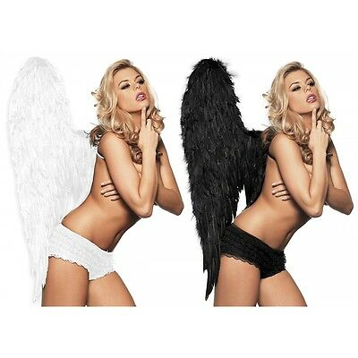 Angel Wings Costume Accessory Adult Feather Halloween Fancy Dress