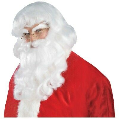 Santa Beard and Wig Adult Mens Christmas Costume Accessory Fancy Dress