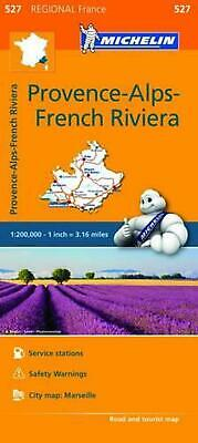 Michelin Regional Maps: France: Provence-Alps-French Riviera Map 527 by Michelin
