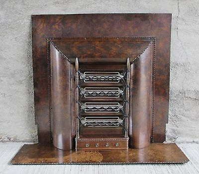 """Antique Vintage Deco Electric Fireplace HEATER Insert- Solid Brass - """"Inventum"""""""
