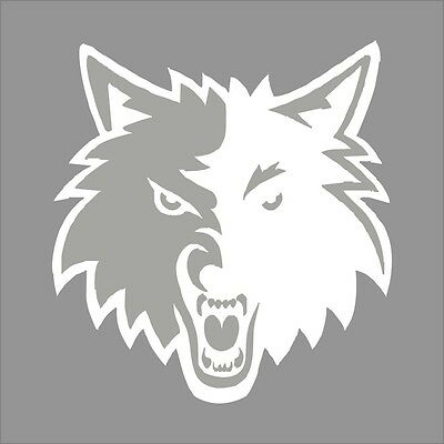 Minnesota Timberwolves #3 NBA Team Logo 1Color Vinyl Decal Sticker Car Window