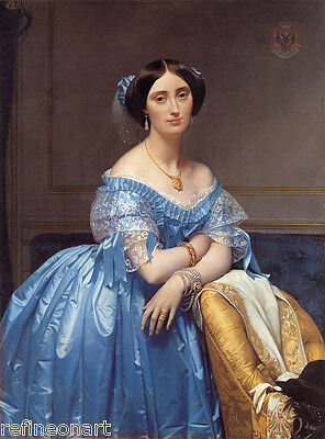Jean-Auguste-Dominique Ingres Princess Albert de Broglie Giclee Canvas Print
