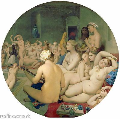 Jean-Auguste-Dominique Ingres The Turkish Bath Giclee Canvas Print