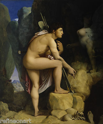 Jean-Auguste-Dominique Ingres Oedipus and the Sphinx Giclee Canvas Print