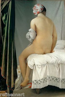 Jean-Auguste-Dominique Ingres La Grande baigneuse Giclee Canvas Print