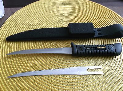 """3 x Knifes with Extra Blades,South bend,Fish Fillet Knife,6"""" Long Blades Strong"""