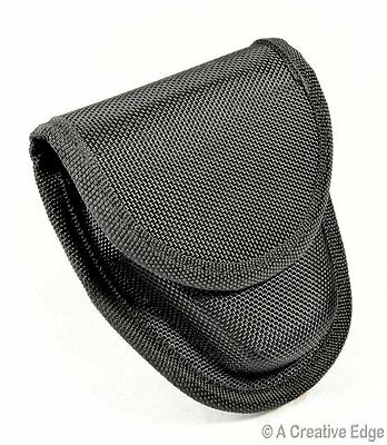 Professional Handcuff Belt Sheath Heavy Duty Tactical Black Nylon Pouch Case New