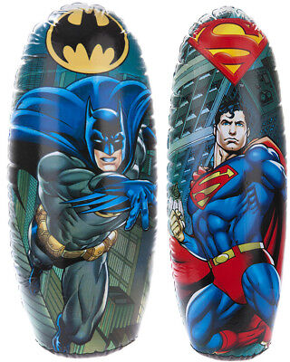Batman / Superman Inflatable Punching Boxing Bopper Bag Weighted Kids Toy Gift
