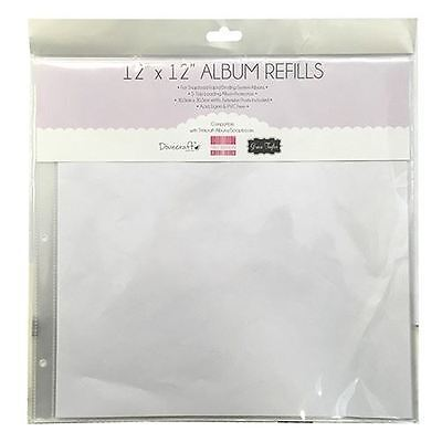 "Dovecraft 12"" Square Clear Scrapbook Album Refills 5 Sheets (Inserts 10 Pages)"