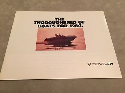 Century Boat~Boats~1984 Original Sales Brochure~Mint Condition~Coronado~Resorter