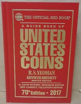 2017 Red Book Guide of U.S. Coins R.S. Yeoman 70th ed. Hardcover Price Guide US