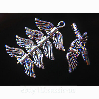 50 Pieces 21mm Angel Wing Spacer Beads Tibetan Silver DIY Jewelry TOP SELL A7752