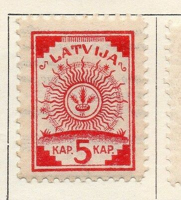Latvia 1920 Early Issue Fine Mint Hinged 5k. 055075