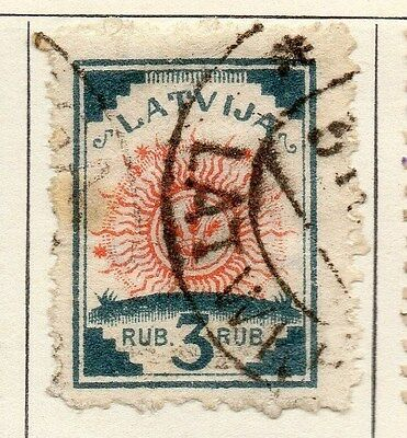 Latvia 1920 Early Issue Fine Used 3R. 055080