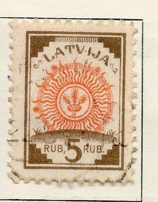 Latvia 1920 Early Issue Fine Used 5R. 055081