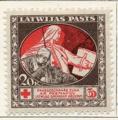 Latvia 1920 Early Issue Fine Mint Hinged 20k. 055086