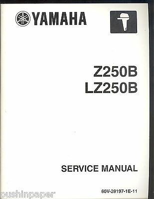 2002 Yamaha Outboard Marine Z250B/lz250B Outboard Service Manual Lit-18616-02-43