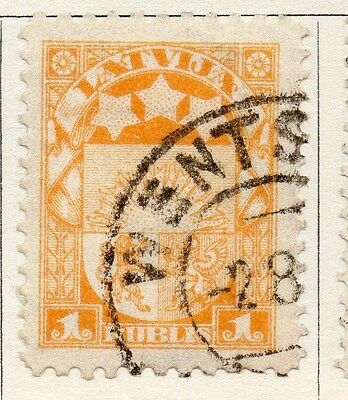 Latvia 1921 Early Issue Fine Used 1R. 055106