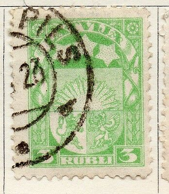 Latvia 1921 Early Issue Fine Used 3R. 055108