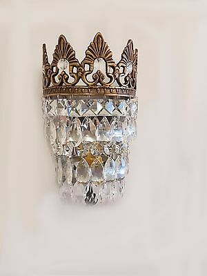 Gorgeous Vintage/French Style Crystal Glass Wall Lights WL00-1B