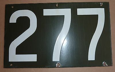 1930's Antique NYC New York City Subway Train R1 Porcelain Number Plate 277