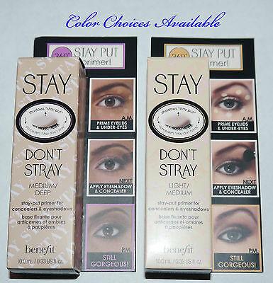 Benefit Cosmetics Stay Don't Stray Eye Shadow Primer 0.33 oz **color choices