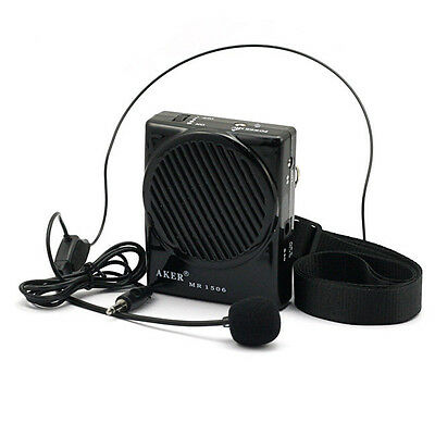 Aker MR1506 10W Ultra-thin Portable Loud Voice Booster Amplifier AMP Speaker