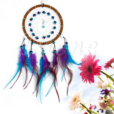 Car Wall Hanging Decoration Dream Catcher With Feathers Turquoise Beads Ornament