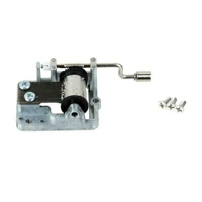 Alloy Wind Up Hand Crank Musical Movement Music Box Mechanical Play Melodies