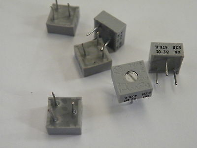 Enclosed Preset Resistor Potentiometer Trimmer 47K In 2,5,10 or 50pcs # EA05