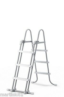 "Intex Swimming Pool Ladder + Removable Steps For Wall Heights 36"" 42"" 107cm"