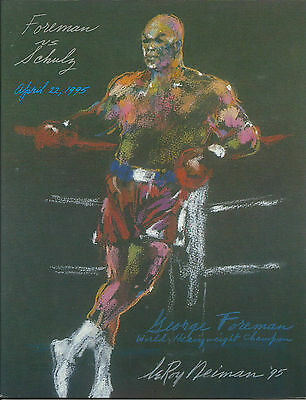 1995 GEORGE FOREMAN vs AXEL SCHULZ WORLD TITLE PROGRAMME