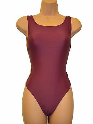 """Younger Girls  BURGANDY  School/Holiday Swimming Costume/Bather   22"""" chest"""