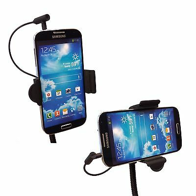 2in1 In Car Charger Phone Holder Lighter Socket Mount for iPhone Galaxy LG HTC
