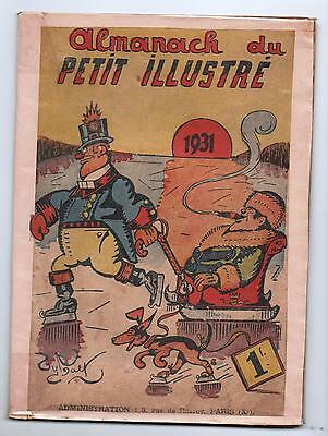 Almanach du PETIT ILLUSTRE 1931. Dessins Tybalt, Thomen,
