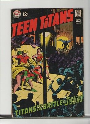 Teen Titans #20 - Neal Adams Writing & Art - 1969 (Grade 4.5) WH