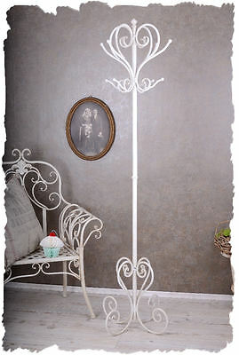 VINTAGE COAT STAND VALET STAND SHABBY CHIC Clothes stand White