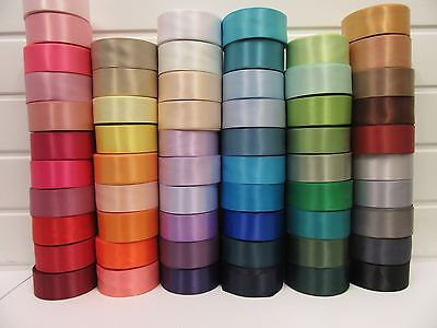 38mm Satin Ribbon 2 or 25 metre double sided roll wedding craft UK VAT Reg 38 mm